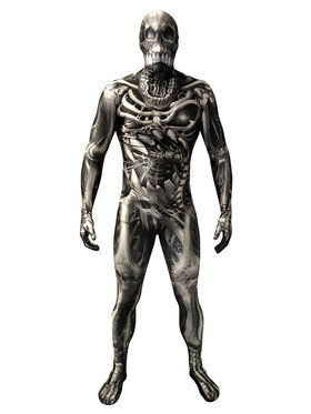 Morph Suit Skull and Bones Men's Costume
