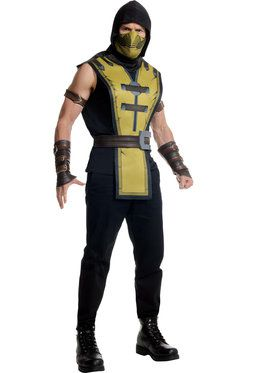 Mortal Kombat Scorpion Mens Costume