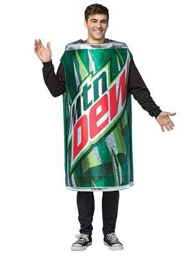 Mountain Dew Can Men's Costume