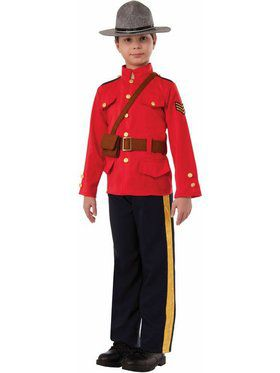 Mountie Boys Costume