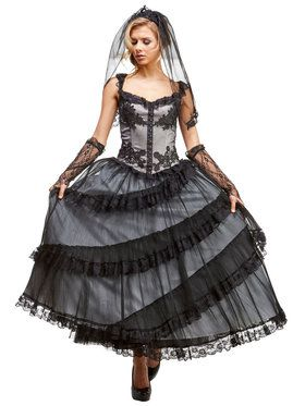Mourning Bride Adult Costume