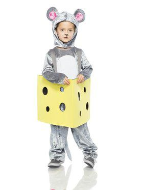 Toddler Mouse in Cheese Costume