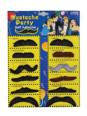 Moustache Card 12 Card Set