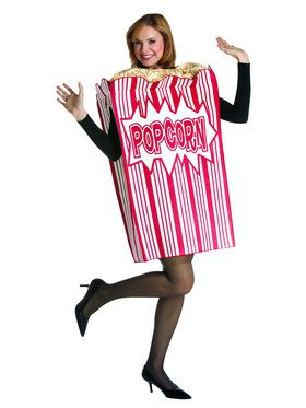 Adult Movie Night Popcorn Box Costume