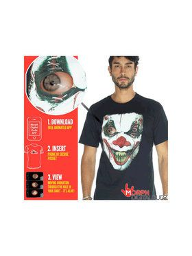 Moving Eye Demon Clown Shirt Men's Costume