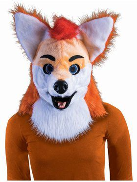 Moving Jaw Adult Cartoon Fox Mask