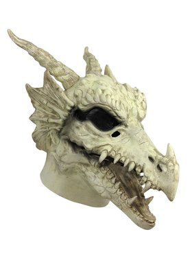 Moving Jaw Skull Dragon Mask for Adults
