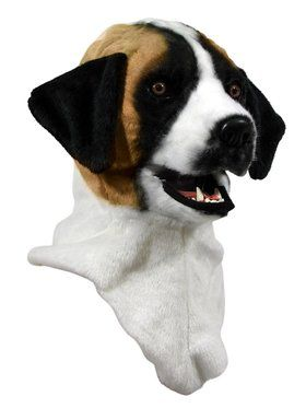 Moving Jaw St. Bernard Mask for Adults