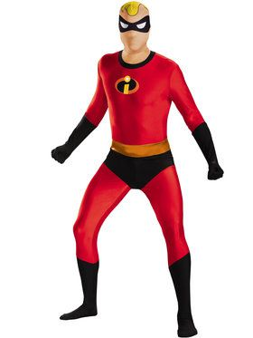 Mr. Incredible Bodysuit Skinovation Men's Costume