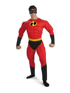 Mr. Incredible Muscle Adult Costume  sc 1 st  Wholesale Halloween Costumes : secret wishes robin costume  - Germanpascual.Com