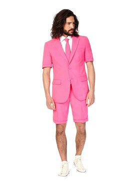 Mr. Pink Mens Summer Opposuit for Halloween