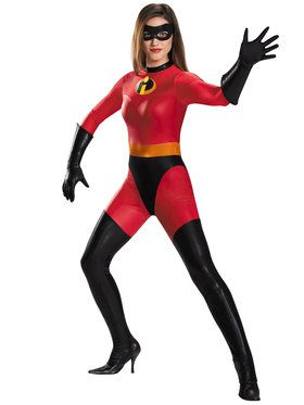 Adult Mrs. Incredible Bodysuit Costume - Disney The Incredibles