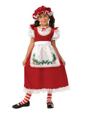 Kids Mrs. Santa Costume