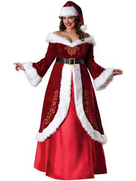 Mrs. St. Nick Womens Plus Size Costume