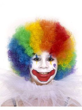 Multi Colored Child's Clown Wig