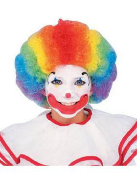 Multi-Colored Clown Costume Wig
