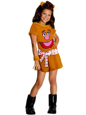 MupPets Fozzie Bear Costume for Girls