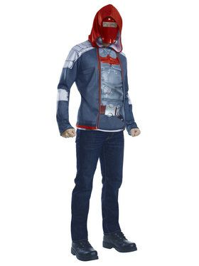 Muscle Chest Red Hood Mens Costume