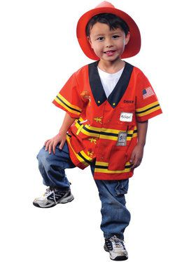 My 1st Career Firefighter Dress-up Shirt Unisex Kids Costume