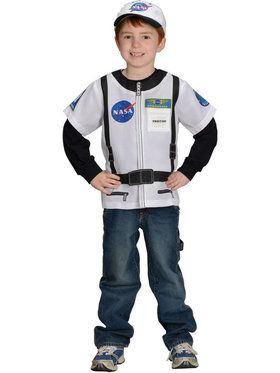 My 1st Career Gear Astronaut Dress-up Shirt Unisex Costume