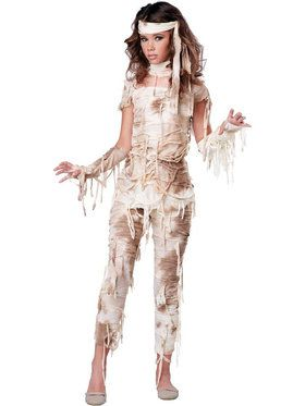 Mysterious Mummy Girl's Costume