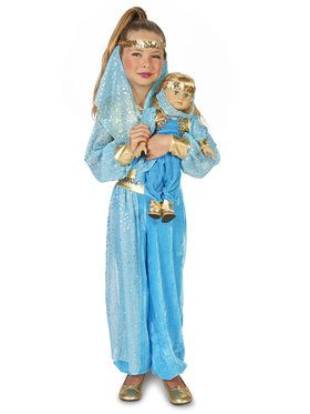 "Mystic Genie Child Costume M (8-10) with Matching 18"" Doll Costume"