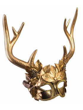 Mythical Creatures Golden Faun Adult Mask