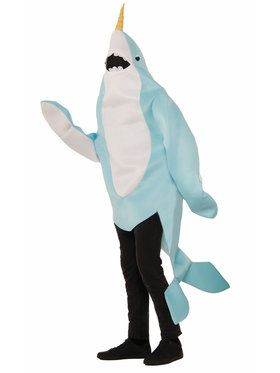 Adult Mascot Plush Narwhal Costume