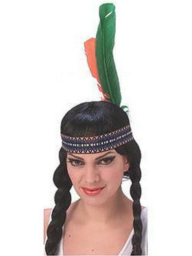 Native American Headband Adult With Feathers