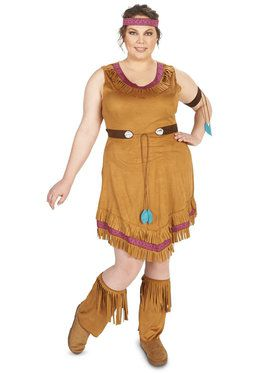 Native Princess Adult Plus Costume
