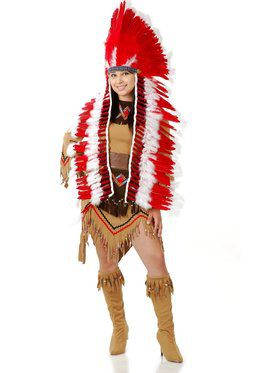 Adult's Native American Inspired Headdress with Trailer