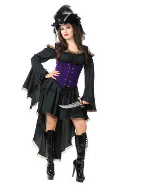 Women's Black Pearl Pirate Lady Costume