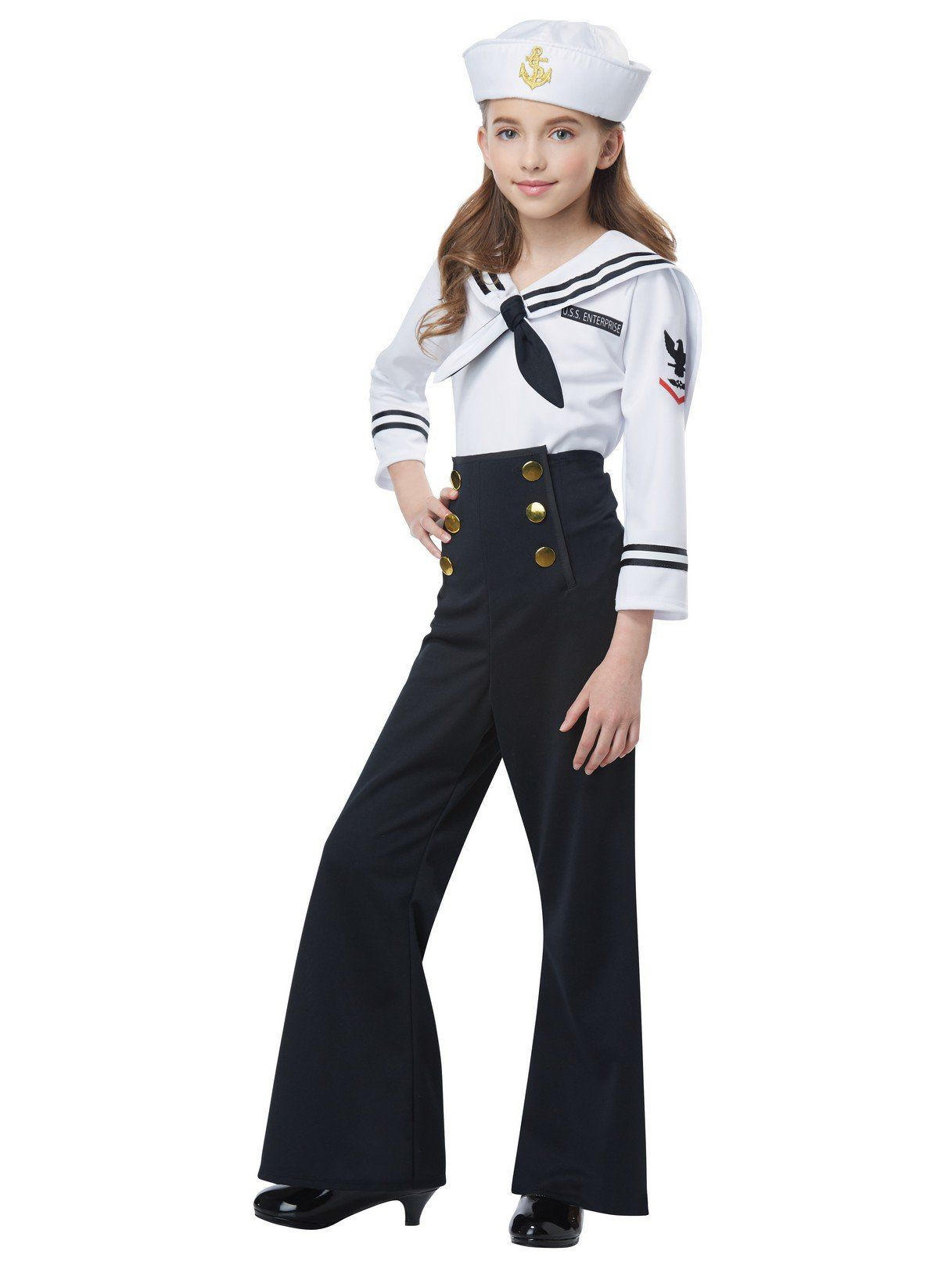 Navy Sailor Costume for Girls  sc 1 st  Wholesale Halloween Costumes : sailor girl halloween costumes  - Germanpascual.Com