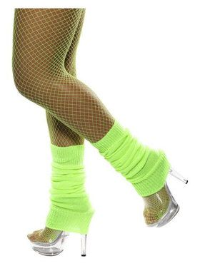 Neon Green Legwarmers Adult