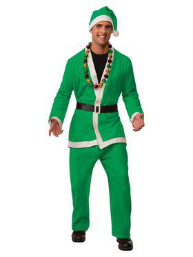 Neon Green Santa Suit Costume