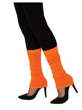 Neon Orange Adult Leg Warmers