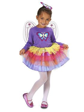 Neon Purple Butterfly Child Costume for Halloween