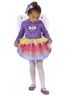 Neon Purple Butterfly Toddler Costume for Halloween