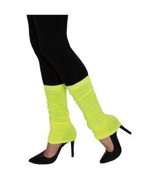 Neon Yellow Adult Leg Warmers