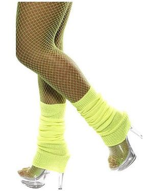 Neon Yellow Legwarmers Adult