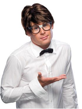 Brown Short Nerd Wig