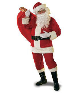 New Velour Santa Suit Costume