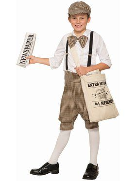 Newsboy Toddler Costume