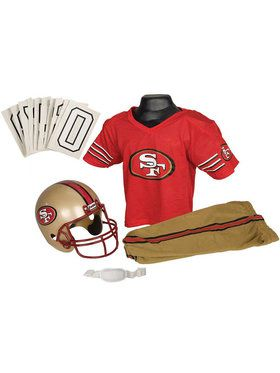 NFL 49ers Helmet & Uniform For Boys