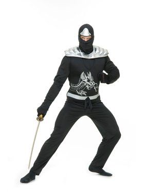 Adult's Ninja Warrior Costume with Armor