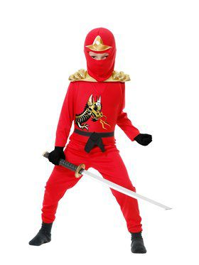 Child's Ninja Warrior Costume with Armor
