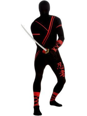 Ninja Skin Suit Men's Costume