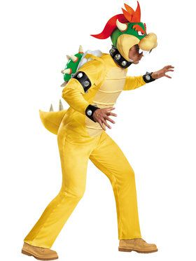 Nintendo Super Mario Bowser Deluxe Men's Costume