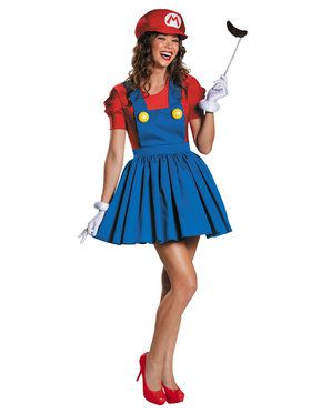 Nintendo Super Mario Brother's Mario Women's Costume
