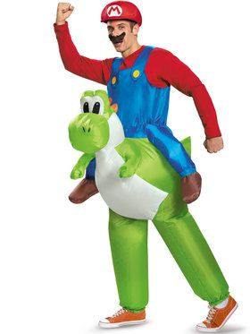 Nintendo Super Mario Brother's Riding Yoshi Mens Costume